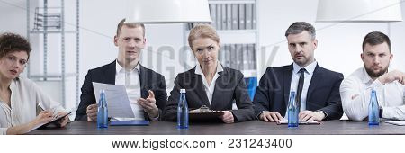 Group Of Headhunters During Examination