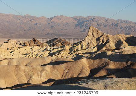 Twenty Mule Canyon From Zabriskie Point. Badlands Death Valley. California. Usa