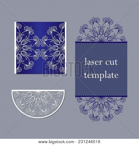 Invitation Template Or Cards For Laser Or Plotter Cutting.cutout Paperwork.