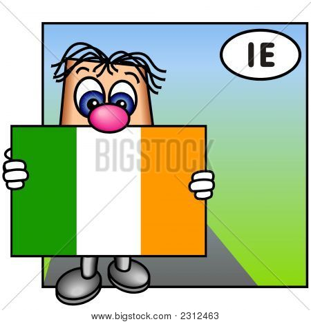 'Paley' Showing The Flag Of Ireland