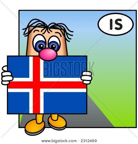'Paley' Showing The Flag Of Iceland