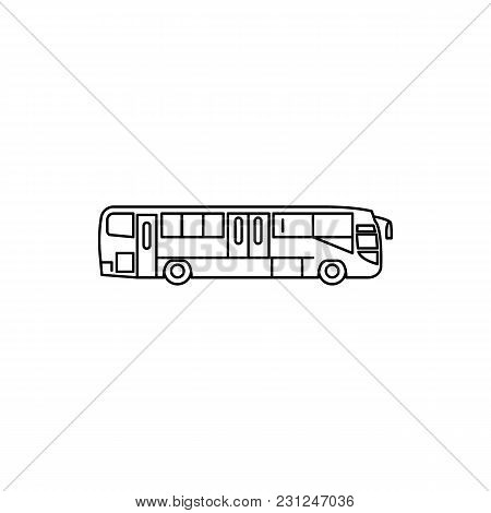 Bus Icon. Outline Bus Vector Icon For Web Design Isolated On White Background