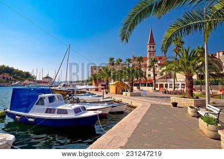 Town Of Milna Waterfront And Marina View, Island Of Brac, Dalmatia, Croatia