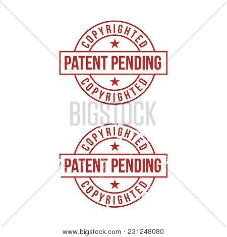 Patent Pending Sign On White Background. Red Stamp. Vector Illustration