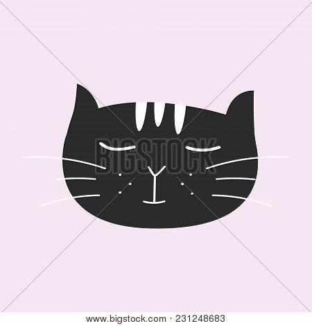 Cute Cat,t-shirt Print, Valentine's Day, Animal Drawing, Cartoon Character,