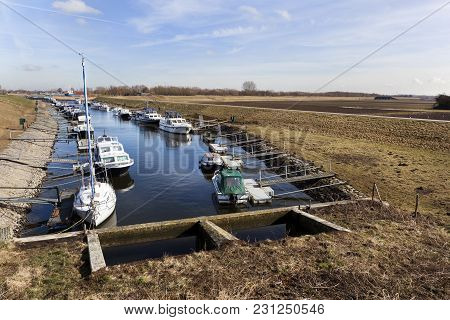 Small Port For Pleasure Crafts In The Polder Of Puttershoek In The Netherlands