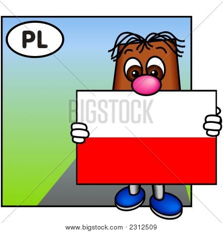 'Brownie' Showing The Flag Of Poland
