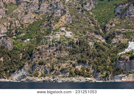 Exclusive Villas And Hotels On The Rocky Coast Of Amalfi. Campania. Italy