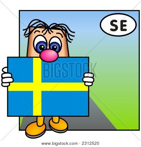 'Paley' Showing The Flag Of Sweden