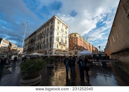 Vatican City, March 06, 2018: Horizontal Picture Of The Buildings In Vatican City, Italy