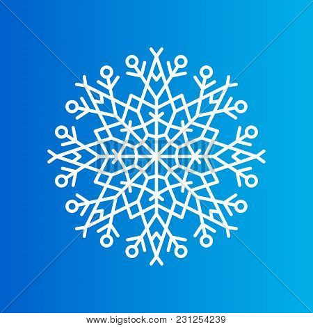 Snowflake Created From Ornamental Patterns With Geometric Elements Vector Illustration Isolated On B