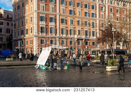 Vatican City, March 06, 2018: Horizontal Picture Of Market In Vatican City, Italy