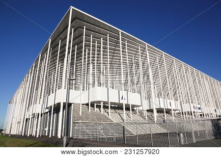 Bordeaux , France - June 5, 2017: Matmut Atlantique Stadium In Bordeaux. It Is The Home Of Ligue 1 C