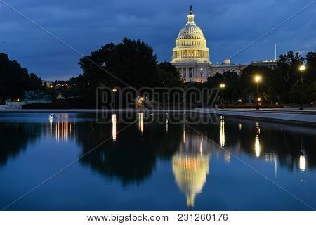 United States Capitol at night - Washington DC USA