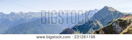 Panoramic Photo Of Picturesque Mountainous Area With Cloudy Sky During Day