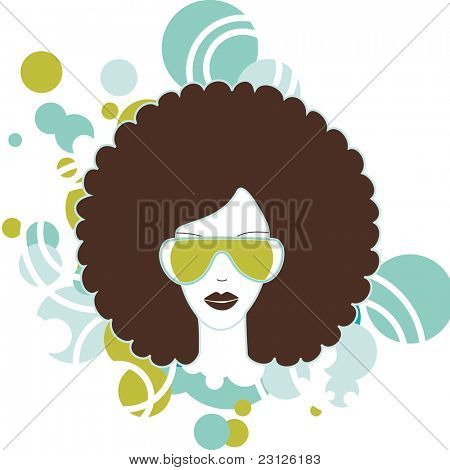 afro woman poster