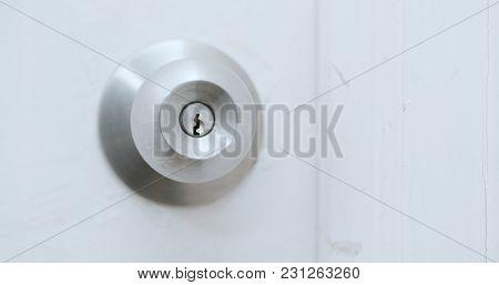 Open the door with key