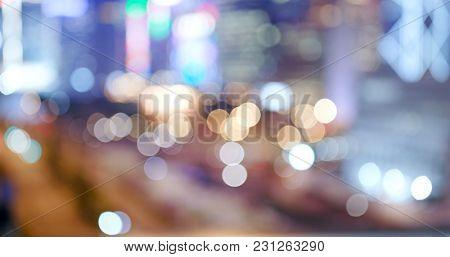 City blur at night in blur