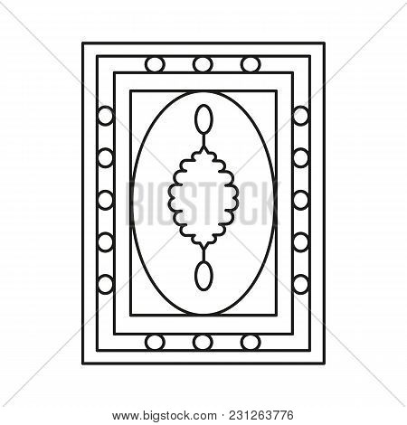 Turkish Carpet Icon. Outline Turkish Carpet Vector Icon For Web Design Isolated On White Background