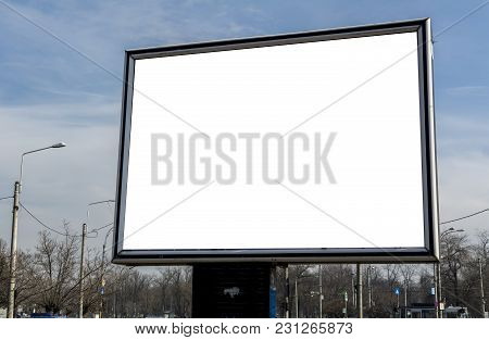 Billboard With White Space For Streets Advertising Blank Advertising Billboard