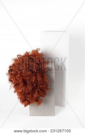 Red Wig Cinder Block