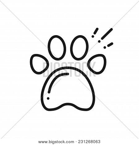 Paw Print Line Icon. Animal Footprint Sign And Symbol. Track. Trail