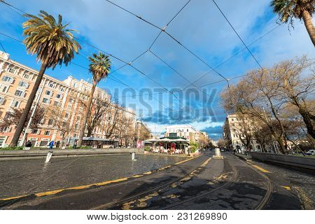 Vatican City, March 06, 2018: Horizontal Picture Of The Plaza In Vatican City, Italy