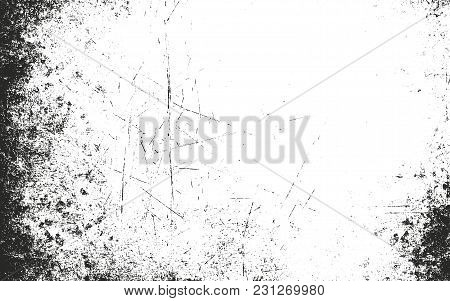 Distressed Overlay Texture Of Rusted Peeled Metal. Grunge Background. Abstract Halftone Vector Illus