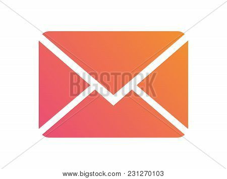 Gradient Vector Colorful Interface Email Envelope Icon