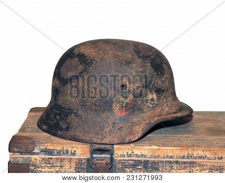 German Helmet Of The Second World War. Russia