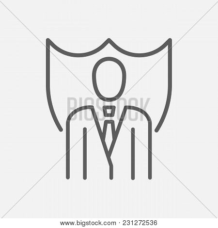 Lawyer Icon Line Symbol. Isolated Vector Illustration Of  Icon Sign Concept For Your Web Site Mobile