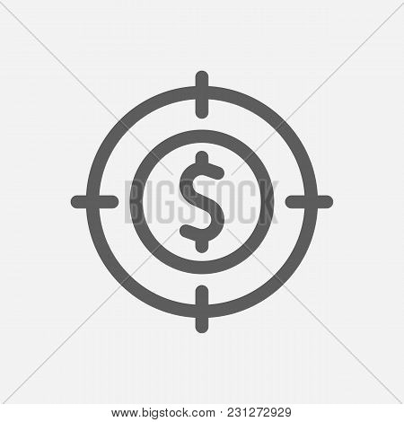 Investment Target Icon Line Symbol. Isolated Vector Illustration Of  Icon Sign Concept For Your Web