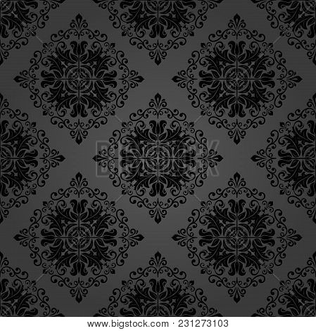 Classic Seamless Dark Pattern. Traditional Orient Ornament. Classic Vintage Background
