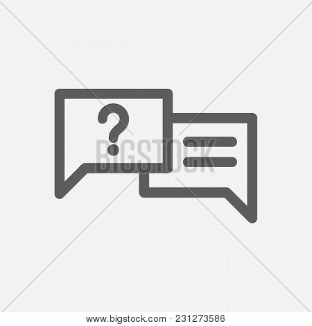 Ask Icon Line Symbol. Isolated  Illustration Of  Icon Sign Concept For Your Web Site Mobile App Logo
