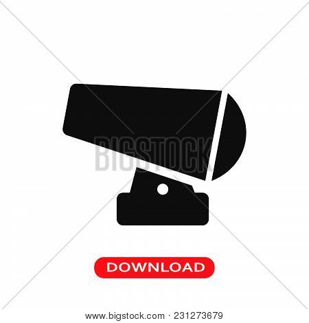 Cannon Icon Vector In Modern Flat Style For Web, Graphic And Mobile Design. Cannon Icon Vector Isola