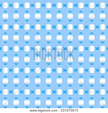 Abstract Ellipse Shape Background Pattern In Gradient Sky Blue And White Colors. Vector Illustration