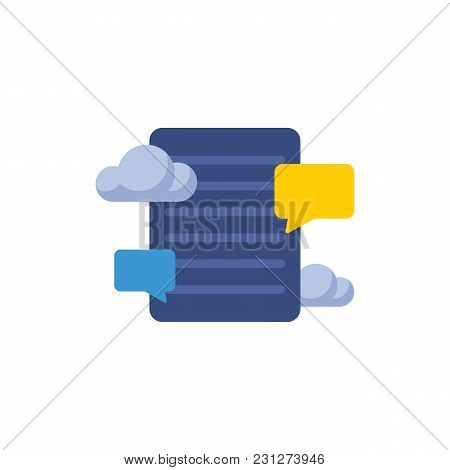 Blog Storage Icon Flat Symbol. Isolated Vector Illustration Of Conversation Sign Concept For Your We