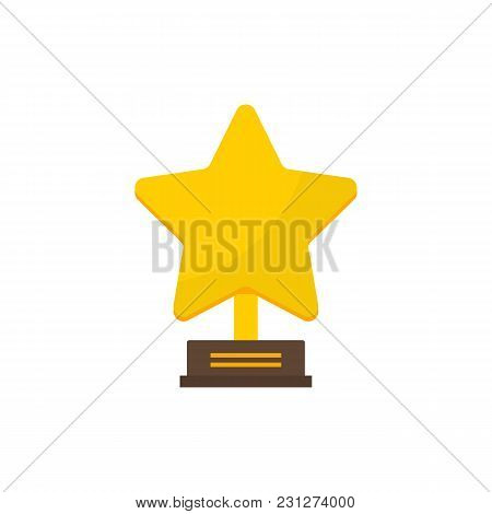 Cinema Award Icon Flat Symbol. Isolated Vector Illustration Of Reward Sign Concept For Your Web Site