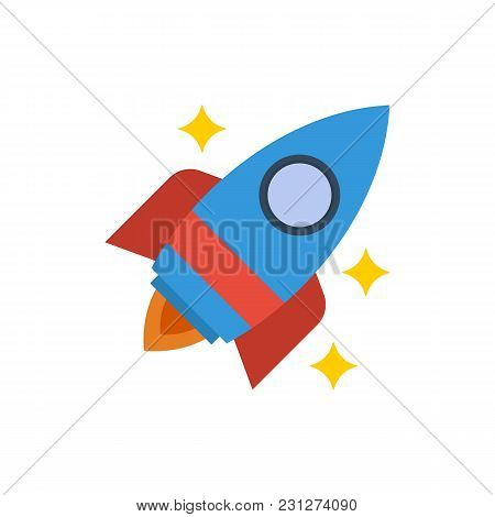 Startup Icon Flat Symbol. Isolated Vector Illustration Of Rocket Sign Concept For Your Web Site Mobi