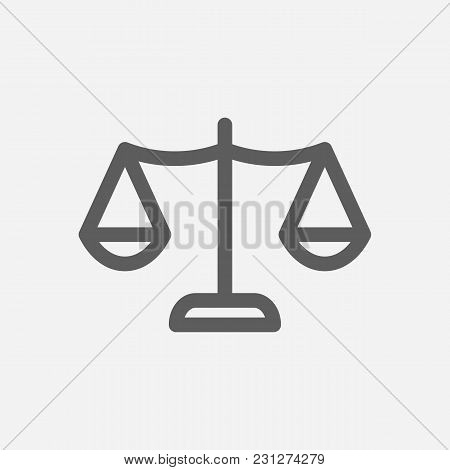 Core Values: Honesty Icon Line Symbol. Isolated Vector Illustration On Company Values Justice Sign C