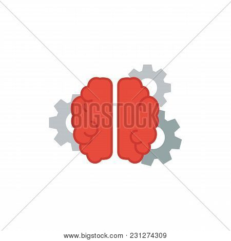Brainstorming Icon Flat Symbol. Isolated Vector Illustration Of Mind Sign Concept For Your Web Site