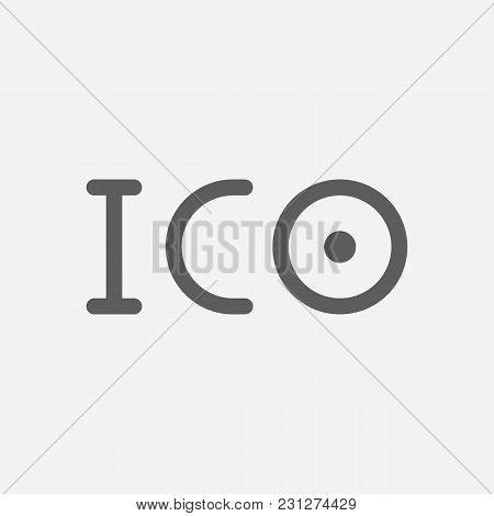 Ico Token Icon Line Symbol. Isolated Vector Illustration Of Blockchain Sign Concept For Your Web Sit