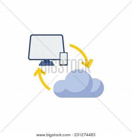 Computing Icon Flat Symbol. Isolated Vector Illustration Of Connect Sign Concept For Your Web Site M