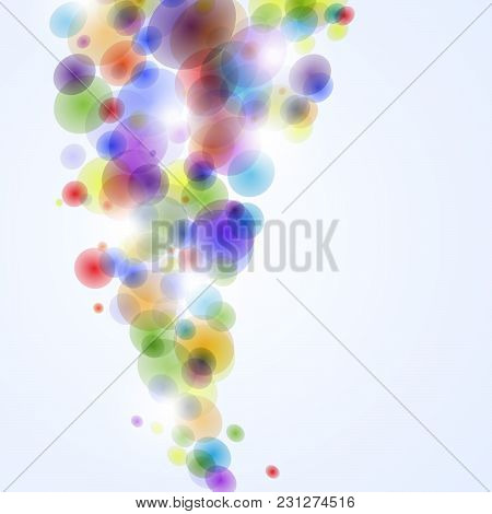 Abstract Background With Colorful Bubbles. Vector Illustration