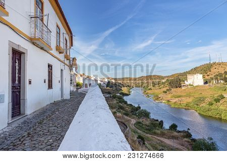 Streets Of The Old Tourist Town Of Mertola. Portugal Alentejo