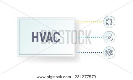 Hvac Infographics. Heating, Ventilation And Air Conditioning. Graph With Icons. Vector Illustration