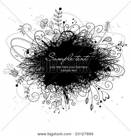 Black and White modern background with place for your text