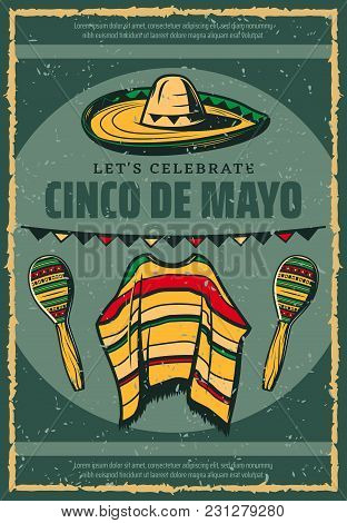 Cinco de mayo mexican holiday vector photo bigstock cinco de mayo mexican holiday celebration greeting card or retro sketch poster for mexico traditiona m4hsunfo Image collections
