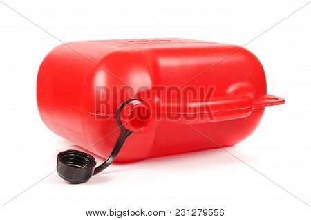 Red Plastic Petrol Canister