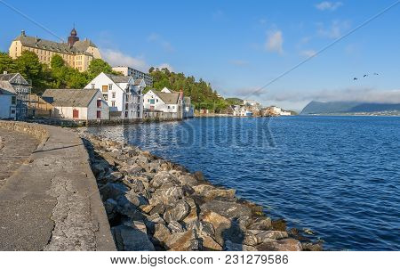 Alesund Is Old Northern City In Norway. In The Past It Was A Very Important Center Of Fisheries Indu